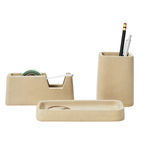 Areaware Concrete Desk Set Sand