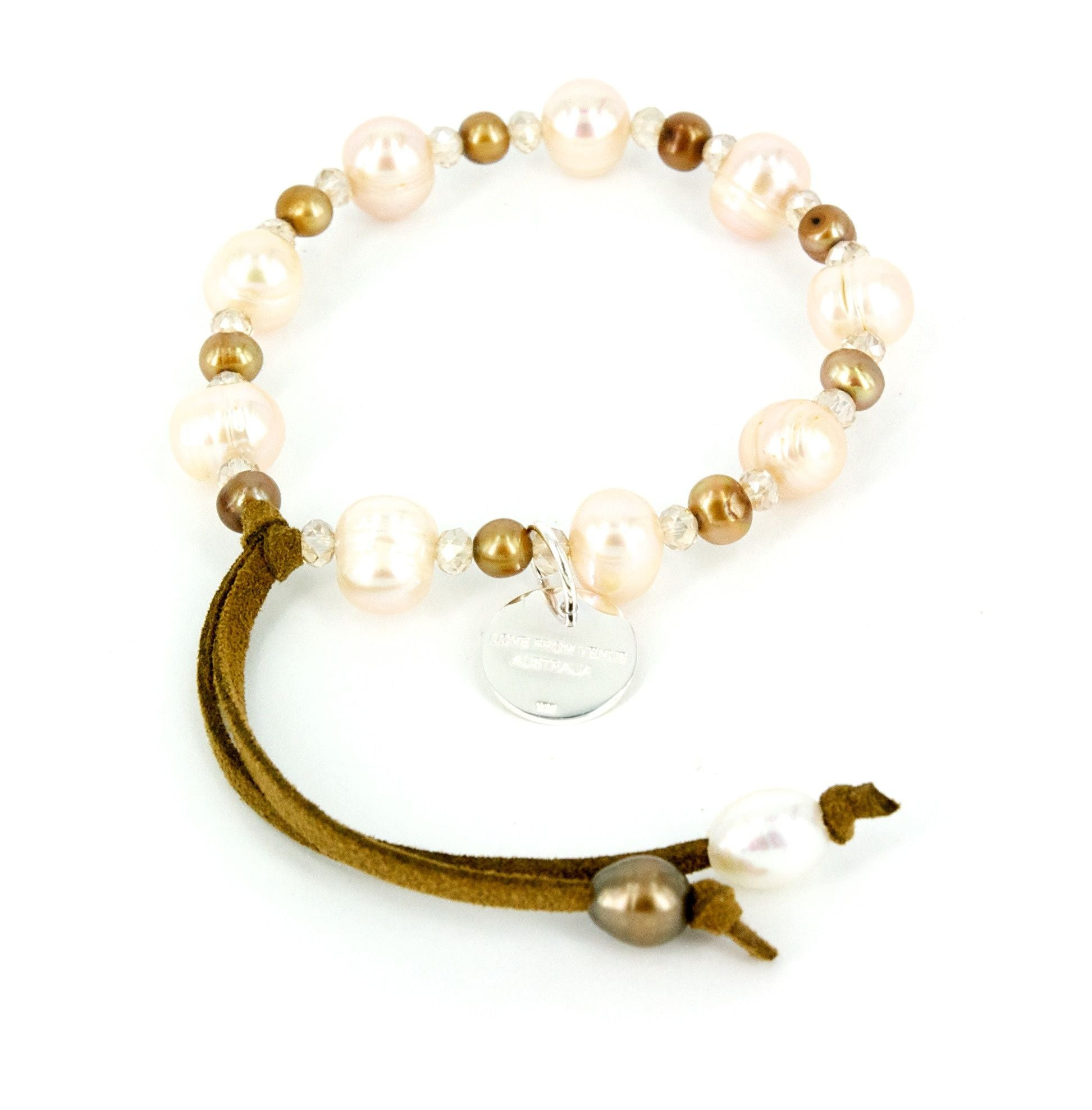 Love from Venus Rose Pearl Jewelled Bracelet