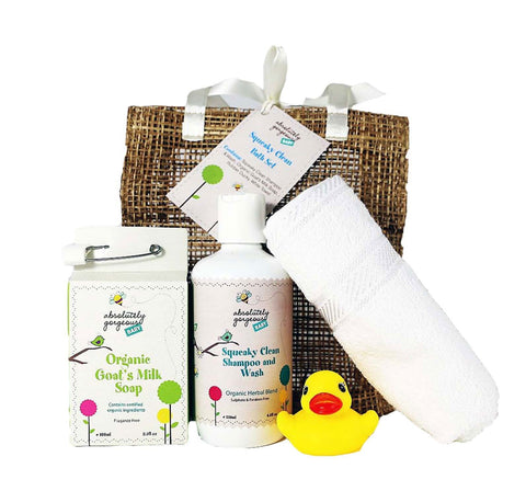 Absolutely Gorgeous Squeaky Clean Baby Bath Gift Set - Australian Gifts Online