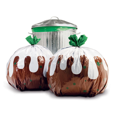 Suck UK Xmas Pudding Bin Bags