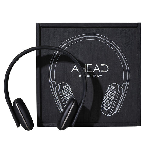 KREAFUNK Ahead Black Edition Bluetooth Headphones