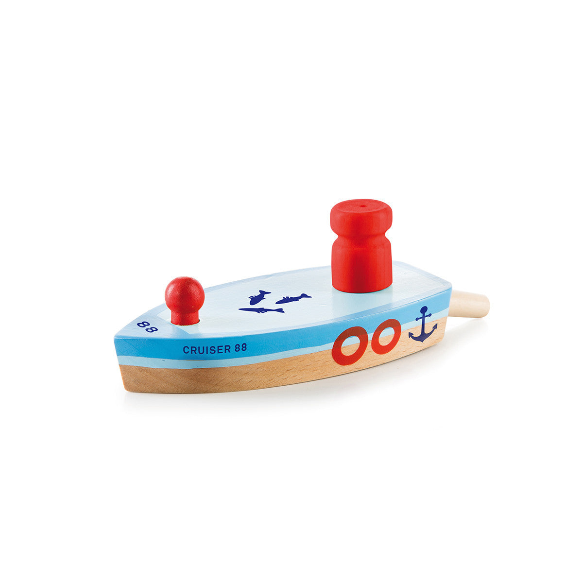 Donkey Products Balloon Boat Floating Wooden Toy