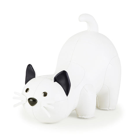 Zuny Bookend Classic Cat White