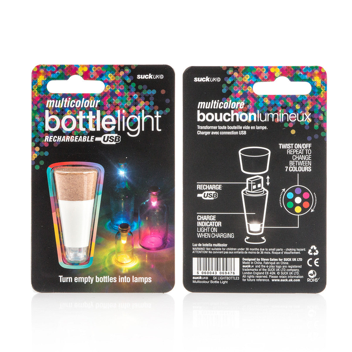Suck UK Bottle Light Multicolour