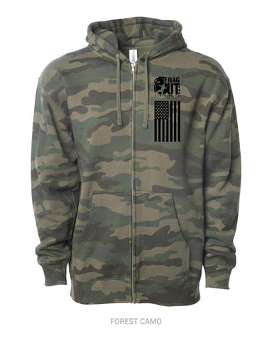 Camo Zip Up Mid-weight Hoodie