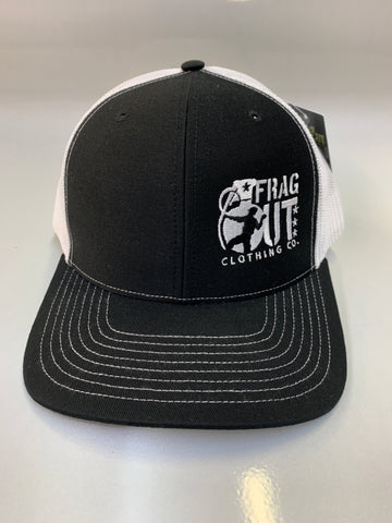 Black Frag Out Snapback Trucker Hat