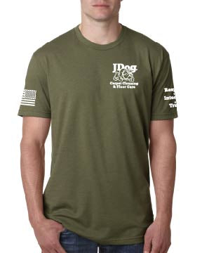 JDOG OD Green Men's Tee - Carpet Cleaning