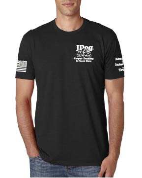 JDOG Black Men's Tee - Carpet Cleaning