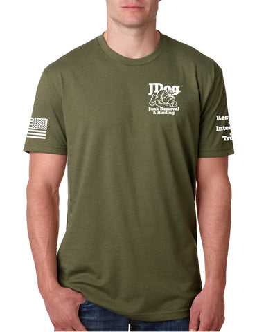 JDOG OD Green Men's Tee - Junk Removal