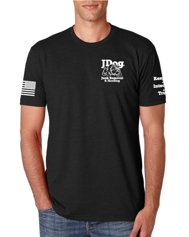 JDOG Black Men's Tee - Junk Removal