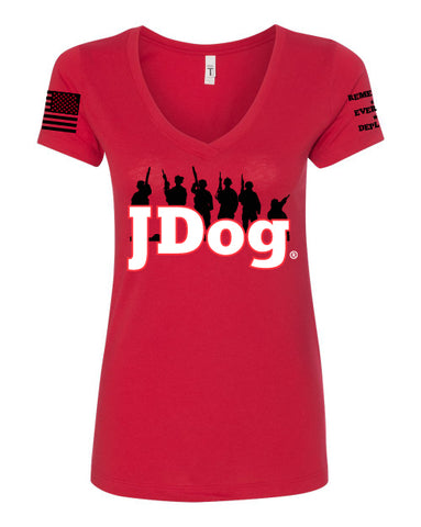 JDOG - Remember Everyone Deployed Women's V neck
