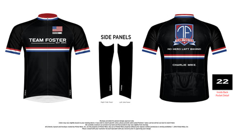 Team Foster Men's Cycling Jersey Sports Cut- Pre-Order