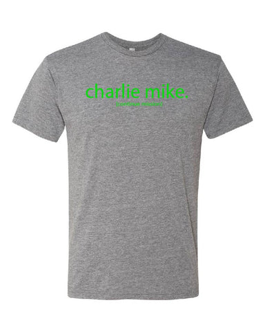 Team Foster Charlie Mike Tee - Green Print