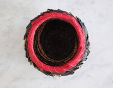 Load image into Gallery viewer, Black & Red Pine Needle Basket - Christine Adcock