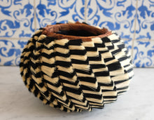 Load image into Gallery viewer, Black and Ivory Basket - Christine Adcock