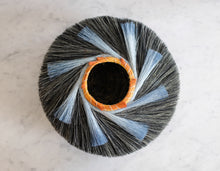 Load image into Gallery viewer, Low Charcoal Nest Basket with Blue - Christine Adcock