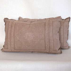 Pair of Chunari Auburn Pillows
