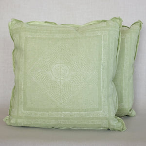 Pair of Chunari Celery Pillows