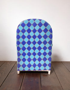 Blue Diamond Beaded Chair