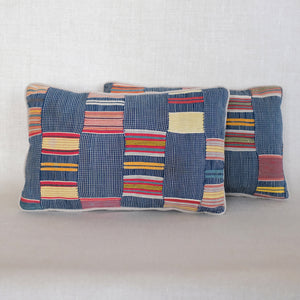 Pair of Indigo Multi-Colored Ewe Pillows