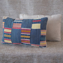 Load image into Gallery viewer, Pair of Indigo Multi-Colored Ewe Pillows