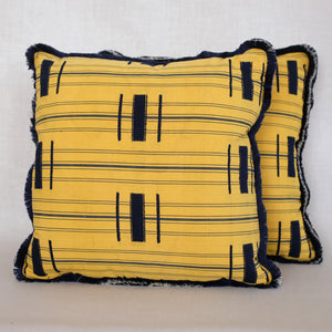 Pair of Yellow Ewe Pillows