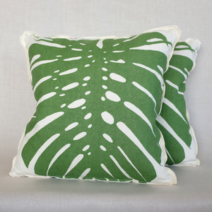 Pair of Exoticus Elephant Leaf Pillows