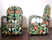 Load image into Gallery viewer, Multi-Colored Floral Beaded Chair