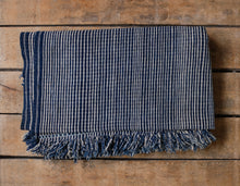 Load image into Gallery viewer, Antique Indigo Striped African Textile