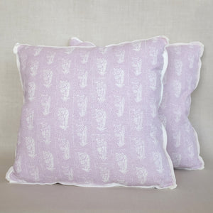 Pair of Mahatma Lavender Pillows