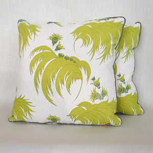 Pair of Palmetto Palm Pillows