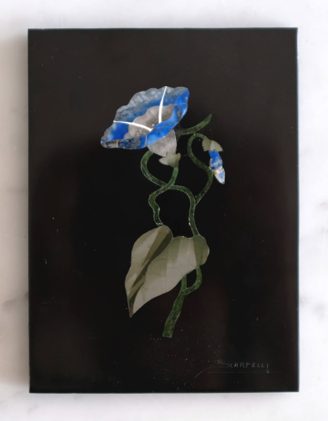Pietra Dura Morning Glory Plaque