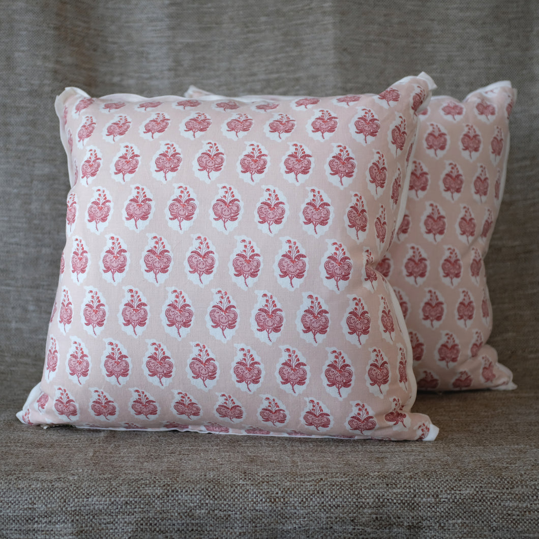 Pair of Pasha Rose Pillows