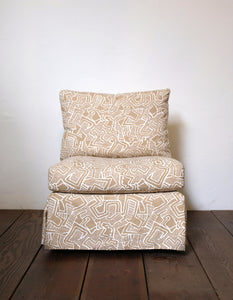 Seda Armless Chair in Saibo Camel