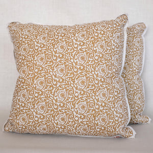 Pair of Scroll Paisley Antigua Pillows