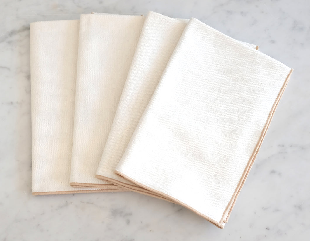 Table Napkins - Cream Burlap