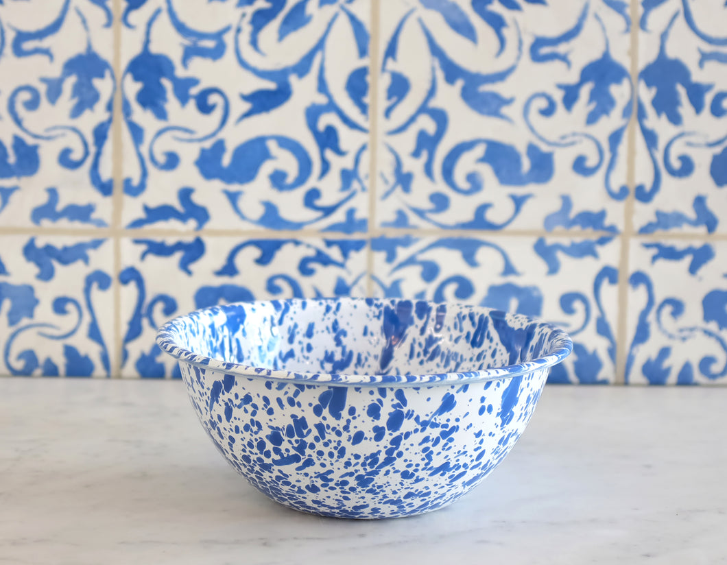 Splatterware Small Serving Bowl- Blue