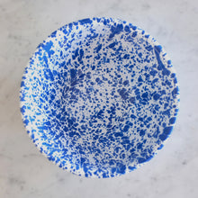 Load image into Gallery viewer, Splatterware Small Serving Bowl- Blue