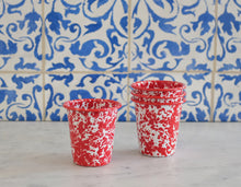 Load image into Gallery viewer, Splatterware Short Tumbler - Red