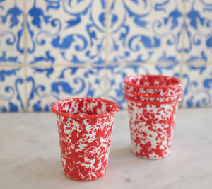 Splatterware Short Tumbler - Red