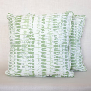 Pair of Tie Dye Outdoor Moss Pillows