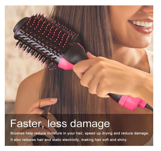 Rotating Hair Brush Curler and Dryer