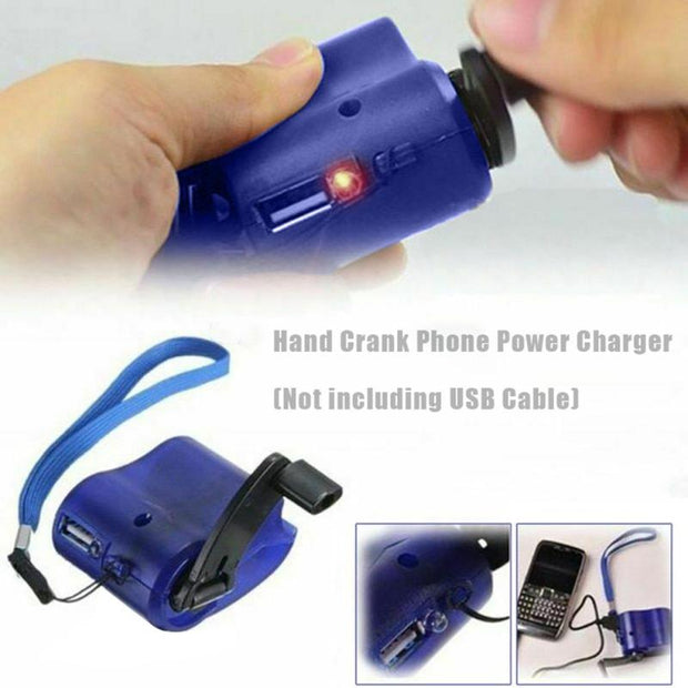 Mini Manual Hand Travel Emergency USB Phone Charger