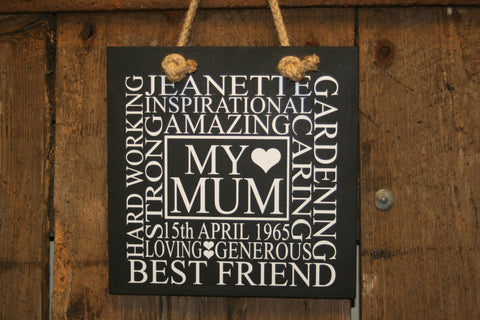 My Mum 'Personalised' - Large Square - 300 x 300mm