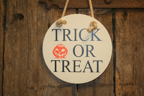 Trick or Treat (Beige with Black)