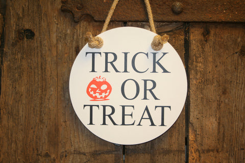 Trick or Treat (White with Black)