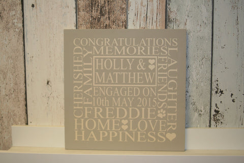 Engagement 'Personalised' - Small Square - 220 x 220mm