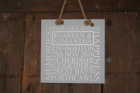 Engagement 'Personalised' - Large Square - 300 x 300mm