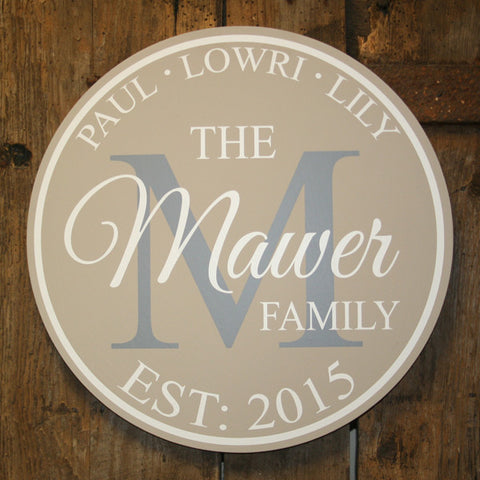 Gone Full Circle - Family 'Personalised' - Extra Large Circle 350 mm Dia.