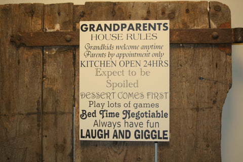 Grandparents House Rules
